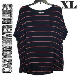(XL) Canyon River Blues Slouchy Striped Top